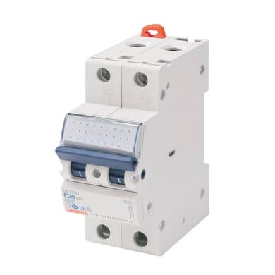 Interruttore magnetotermico GEWISS 1P+N 20A 4.5kA C 2 moduli 230V