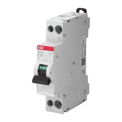 Interruttore magnetotermico ABB ELSN201C10 1P +N 10A 6kA C 1 modulo 230V