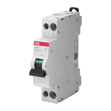 Interruttore magnetotermico ABB ELSN201C10 1P +N 16A 6kA C 1 modulo 230V