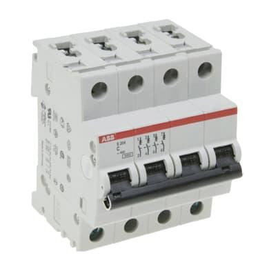 Interruttore magnetotermico ABB ELS204-C16 3P +N 6A C 4 moduli 230V