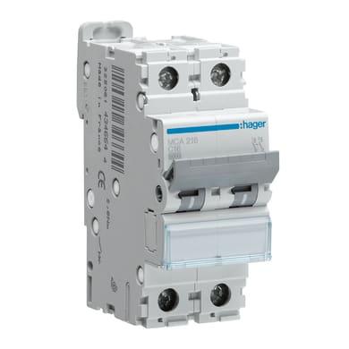 Interruttore magnetotermico HAGER HAGMJN53 1P+N 32A 4.5kA C 1 modulo 230V