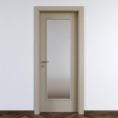 Porta a battente Cinder Vetrata grigio L 80 x H 210 cm destra