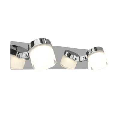 Barra di faretti Coos cromo, in metallo, LED integrato 6.4W 800LM IP44 INSPIRE
