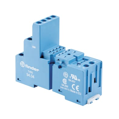 Zoccolo per relè industriale FINDER 9404MMMP 2 moduli IP20