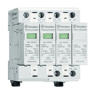 Scaricatore (spd) FINDER 7P2482750020 cartuccia estraibile 20kA 4 moduli