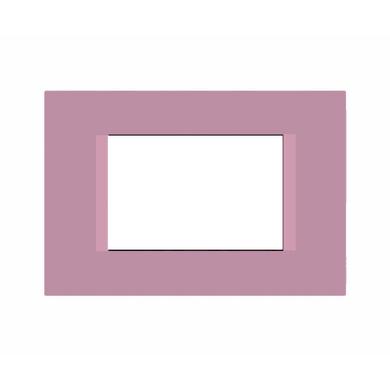Placca FEB Flat 3 moduli viola n°5