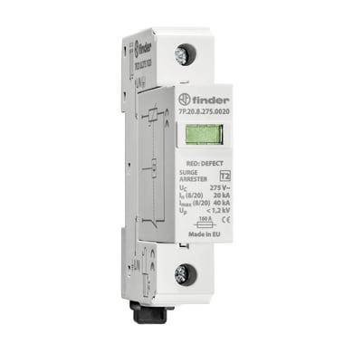 Scaricatore (spd) FINDER 7P2182750020 cartuccia estraibile 20kA 1 modulo