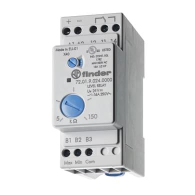 Relè di controllo FINDER con due sonde comprese 720182400000MOS 16A 2 moduli 230V