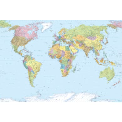 Foto murale KOMAR World Map 368.0 x 248.0 cm