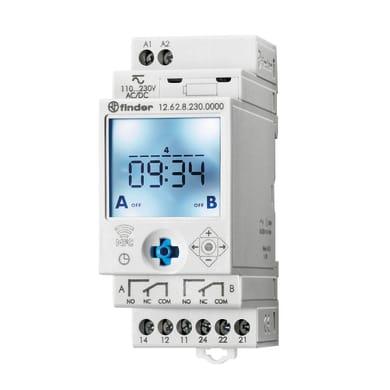 Interruttore orario digitale 126282300000MMM FINDER 2 moduli
