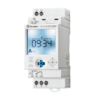 Interruttore orario digitale 12A182300000MMM FINDER 2 moduli