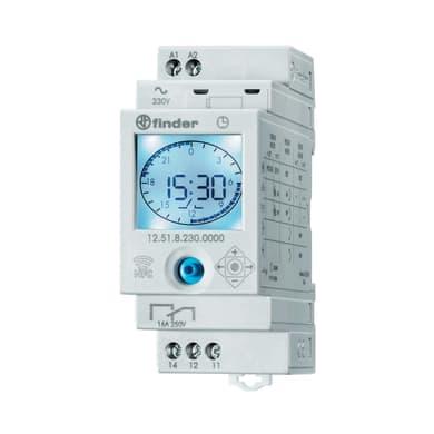 Interruttore orario digitale 125182300000MMM FINDER 2 moduli