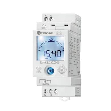 Interruttore orario digitale 128182300000MMM FINDER 2 moduli