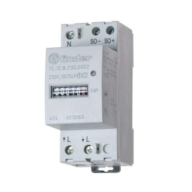Misuratore consumi quadro elettrico Monofase 25A 2 moduli