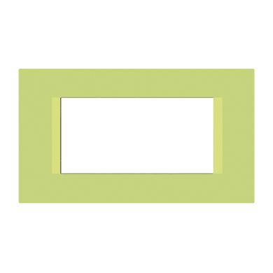 Placca FEB Flat 4 moduli pistacchio n°5