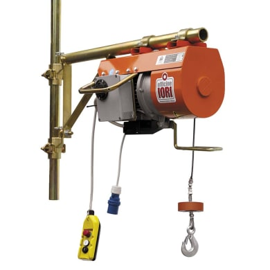 Paranco elettrico portata max 200 kg