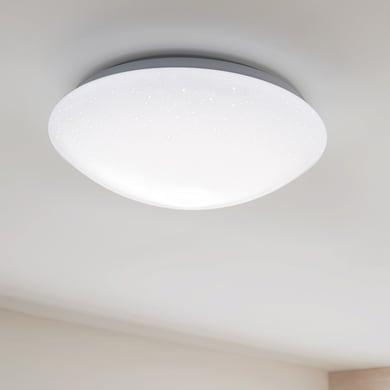 Plafoniera moderno Modica LED integrato bianco D. 35 cm 35 cm, INSPIRE