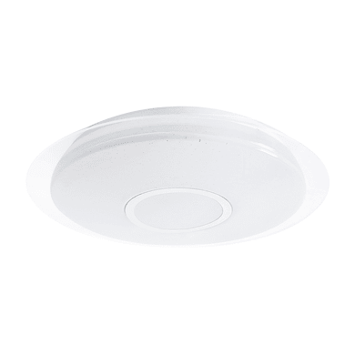 Plafoniera Vizzini bianco, in plastica, diam. 40, LED integrato 22W 2200LM IP44 INSPIRE