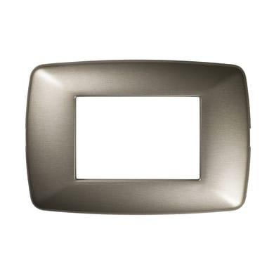 Placca Flexi Brio FEB 3 moduli acciaio aatinato
