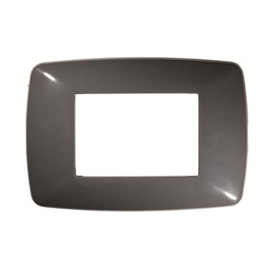 Placca Flexi Brio FEB 3 moduli grigio scuro