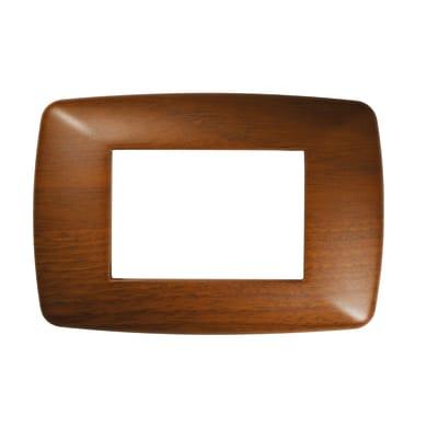 Placca Flexi Brio FEB 3 moduli legno scuro