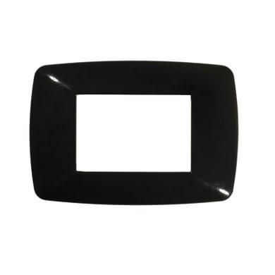 Placca FEB Flexi Brio 3 moduli nero