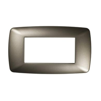 Placca FEB Flexi Brio 4 moduli acciaio satinato