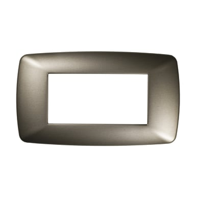 Placca Flexi Brio FEB 4 moduli acciaio satinato