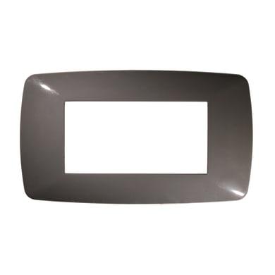 Placca FEB Flexi Brio 4 moduli grigio scuro