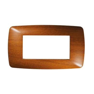 Placca Flexi Brio FEB 4 moduli legno scuro