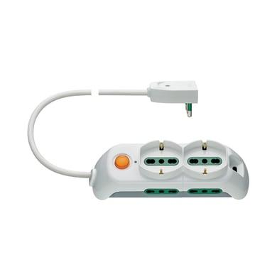 Multipresa con cavo e con protezione FP00523.C.B bianco 6 prese