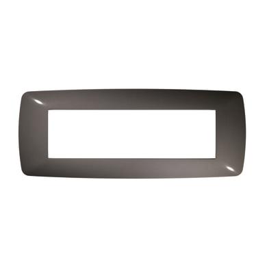 Placca FEB Flexi Brio 7 moduli grigio scuro
