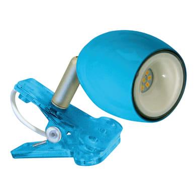 Lampada da scrivania con pinza Kikiled azzurro, in acciaio, LED integrato 2W