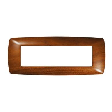 Placca FEB Flexi Brio 7 moduli legno scuro