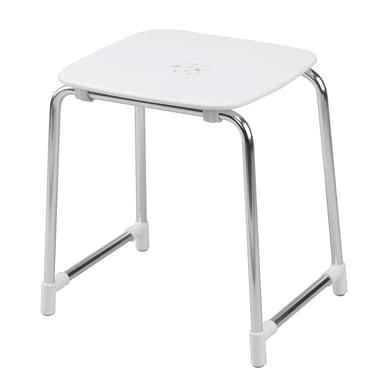 Sgabello Prima classe in alluminio bianco/grigio