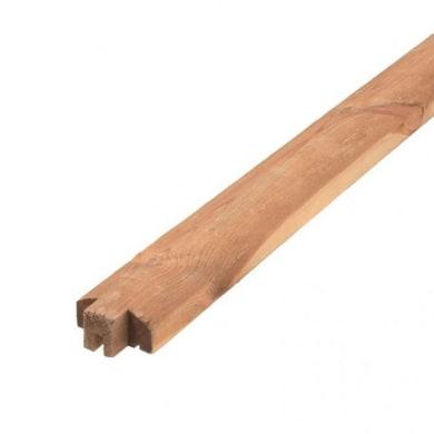 Profilo 1 pezzi TERMINALE PERLINA3X6X200 CM in legno H 3 x L 6 Beige