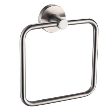 Porta salviette ad anello Steel finitura spazzolata cromo spazzolato L 16 cm