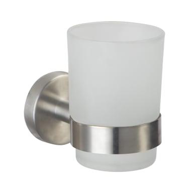 Bicchiere porta spazzolini Porta bicchiere serie steel in acciaio finitura spazzolata