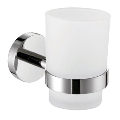 Bicchiere porta spazzolini Porta bicchiere serie shell in acciaio finitura cromo