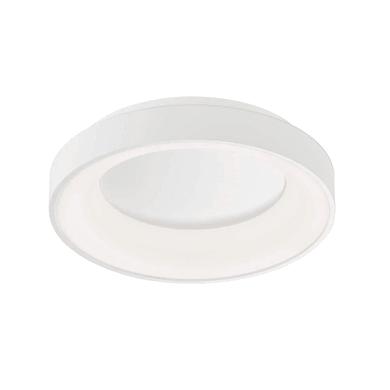 Plafoniera design Shay LED integrato bianco, in metallo,  D. 39 cm 39x39 cm, WOFI