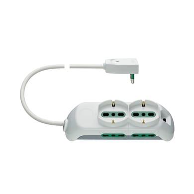 Multipresa senza protezione FP00520.C.B da appoggio bianco