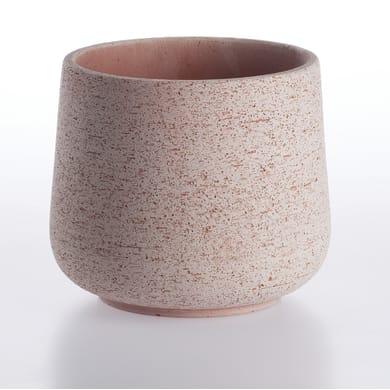 Vaso in terracotta colore grigio H 15 cm, Ø 19 cm