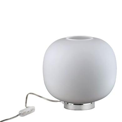 Lampada da comodino Balu' bianco, in vetro, E27 MAX 72W IP20