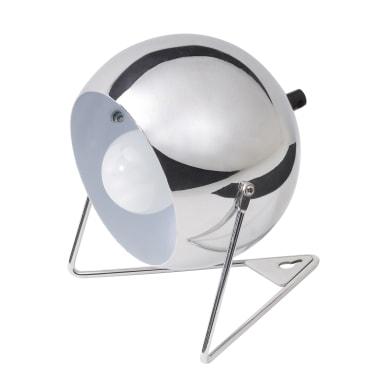 Lampada da comodino Bari cromo, in metallo, E14 MAX 30W IP20 INSPIRE