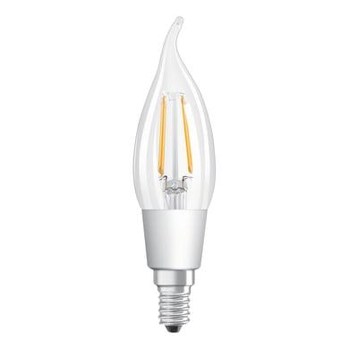 Lampadina LED, E14, Colpo di vento, Trasparente, Luce calda, 5W=470LM (equiv 40 W), 300° , OSRAM