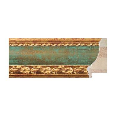 Asta per cornice Rovesciata lavorata oro e verde 6.9 cm