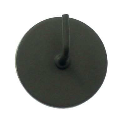 Supporto adesivo Ø25/28mm in metallo tortora opaco, 2 pezzi