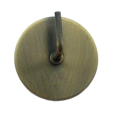 Supporto adesivo Ø25/28mm in metallo bronzo satinato, 2 pezzi