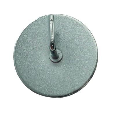 Supporto adesivo Ø25/28mm in metallo nichel satinato, 2 pezzi
