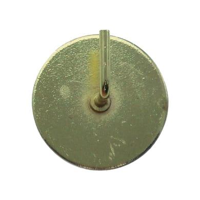Supporto adesivo Ø25/28mm in metallo oro satinato, 2 pezzi